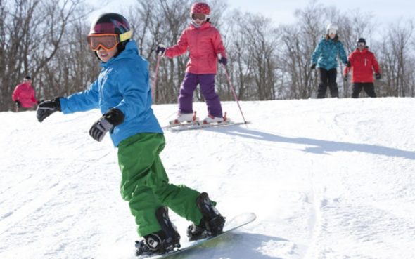 Ski dans les Laurentides