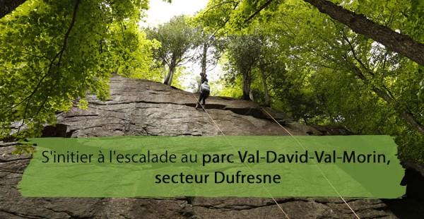 S'initier à l'escalade au parc Val-David-Val-Morin, secteur Dufresne