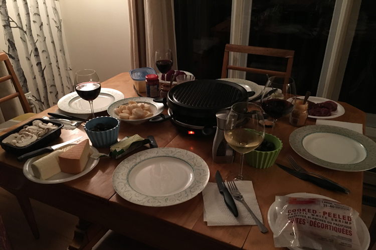 Souper sur raclette