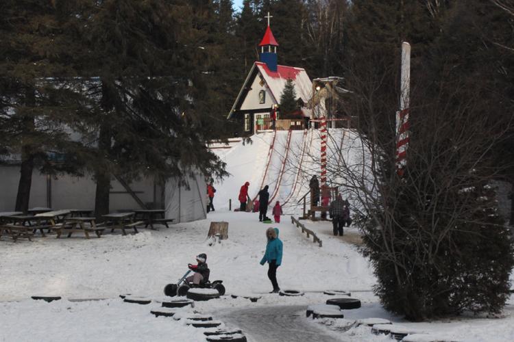 Une petite course en voiturette sur neige?